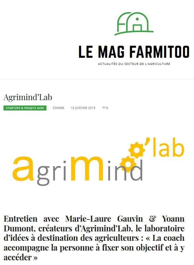 Agrimind'lab sur le Mag de Farmitoo !